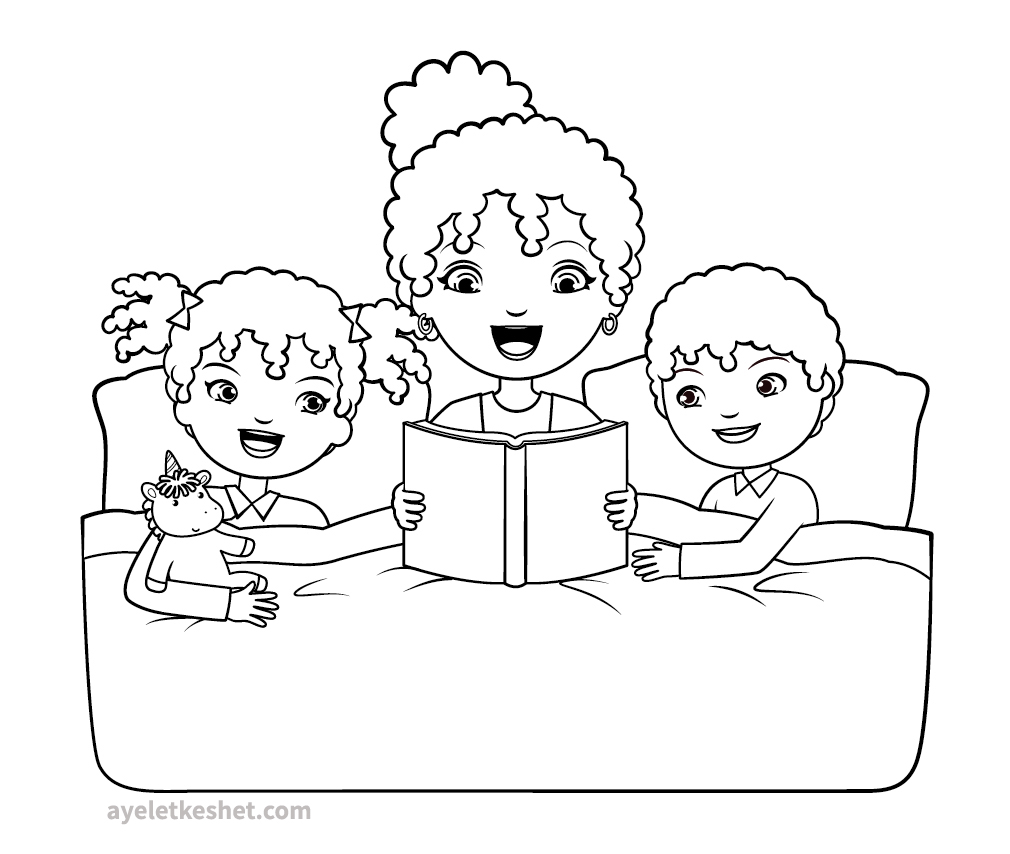 Free coloring pages about family that you can print out ...