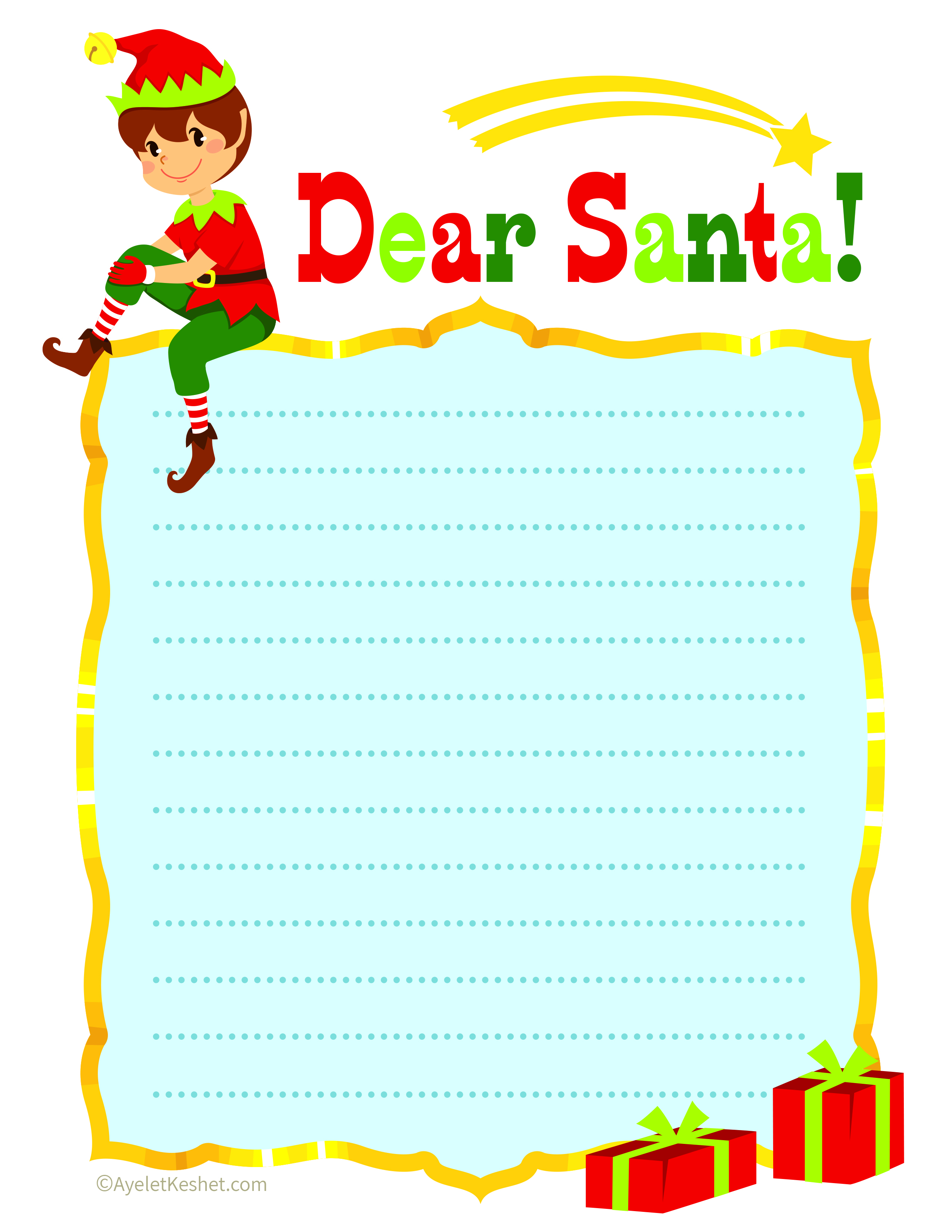 It's just a picture of Free Printable Letter From Santa Template in high resolution